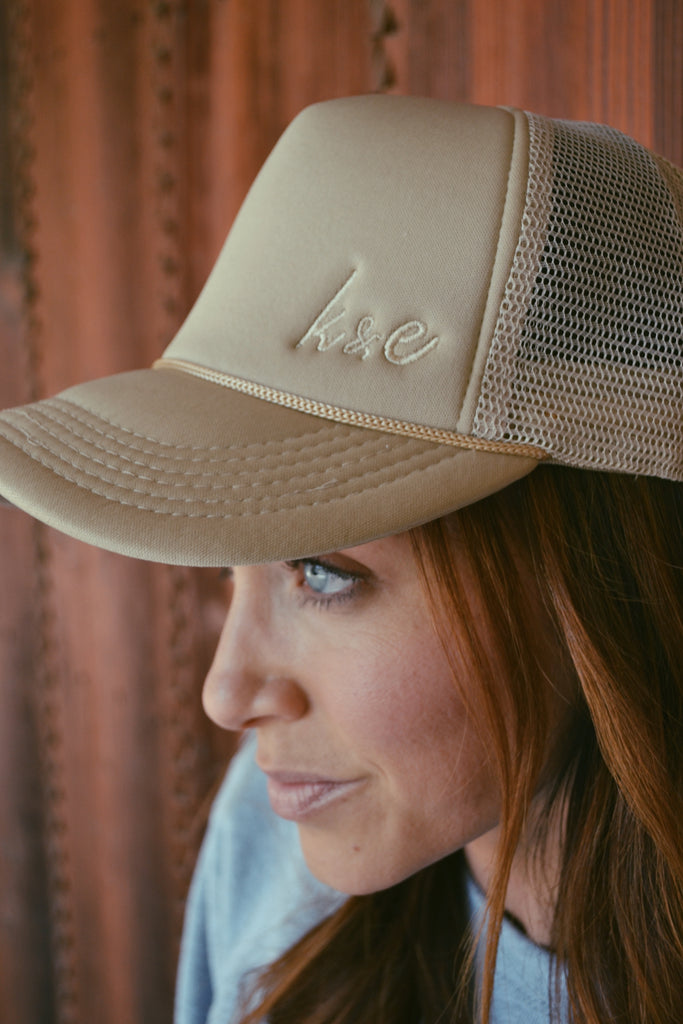 K & E Trucker Hat - TAN