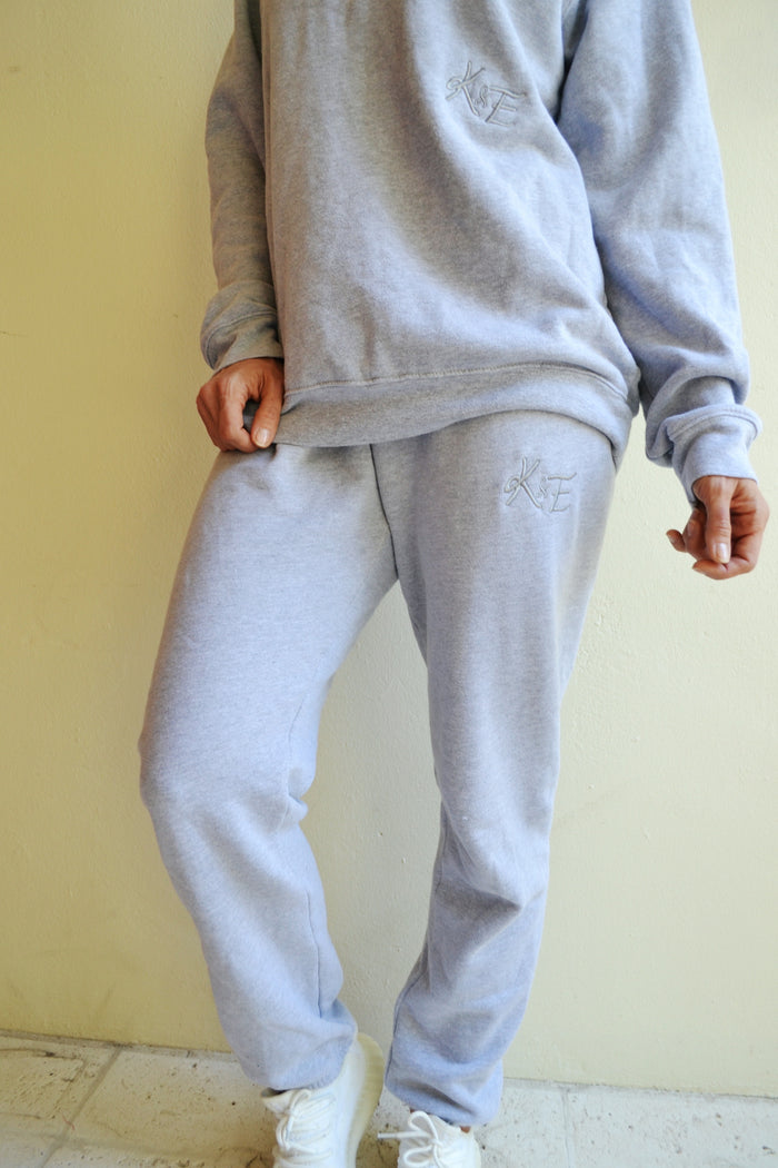 KE SWEAT SET Pants - heather grey
