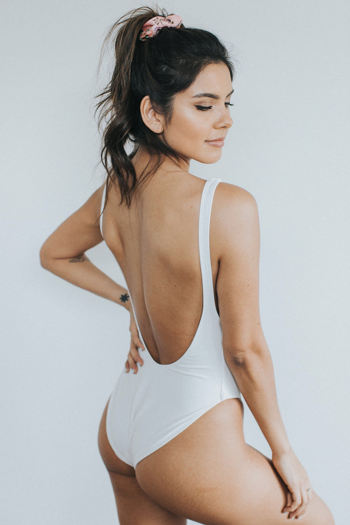 ANDY ONE PIECE - White Matte Faux Leather