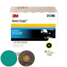 3M 1396 2 in. 50 Grade Green Corps Roloc Disc