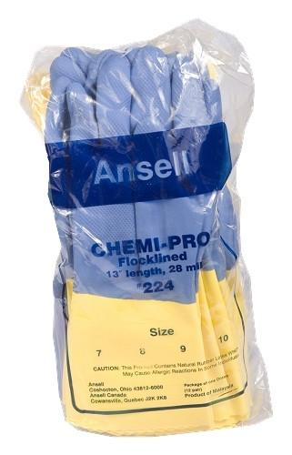 "ANSELL 224 Chemical Resistant Gloves, 27 MIL -13"" long"