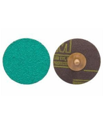 3M 1406 3 in. 50 Grade Green Corps Roloc Disc