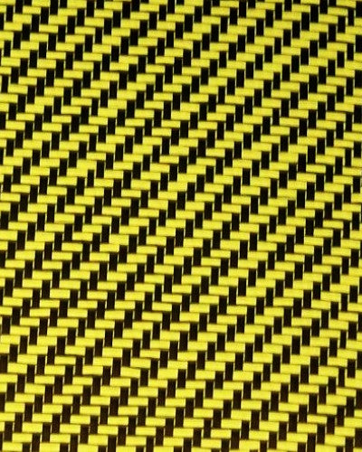 Twill Weave Carbor Fiber -Yellow Kevlar 50inch wide