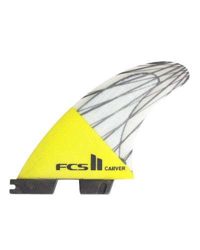 FCS II Carver PC Carbon Medium Tri-fin Set Yellow
