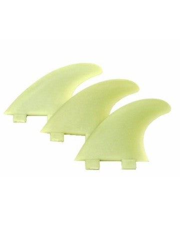 FCS M7 (Large Size) Natural Glass Flex Tri Fin Set