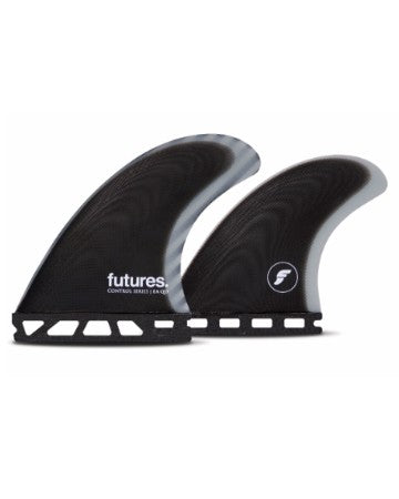 Futures Fins  Control Series-EA Quad Fiberglass -Black/Grey