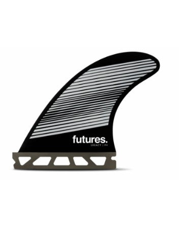 Futures Fins F6 Legacy Tri-Fin Set- Gray/White