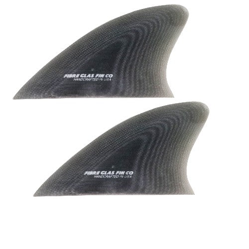 Glass On Twin Keel Fins -Grey