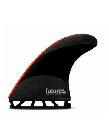 Futures Fins JJ-2 (Large) Techflex  Thruster-Black-Bright Red