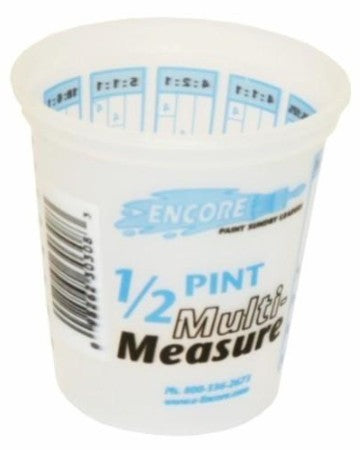 Plastic Multi-Measure Mixing Cup  8oz