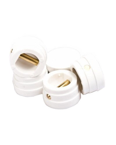 Large Leash Plugs White