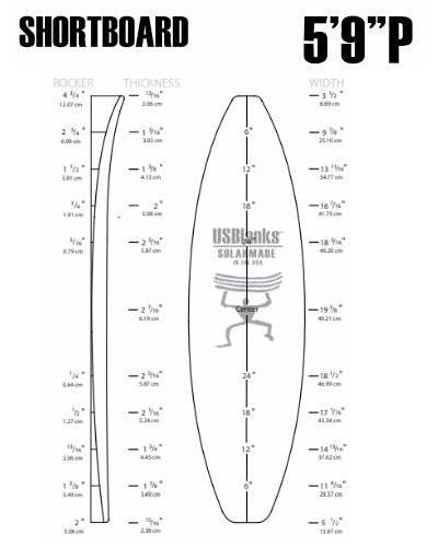 "5'9"" P US Blanks - Shortboard Blank"
