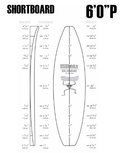 "6'0"" P US Blanks - Shortboard Blank"