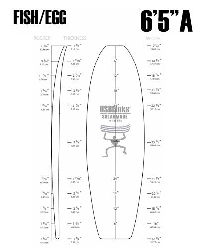 "6'5""A US Blanks - Fish"