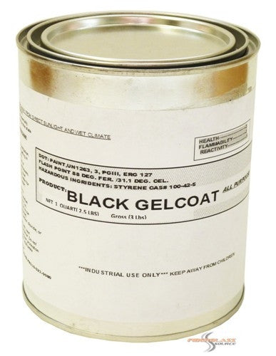 HK LHM Marine Black Gel Coat -1 Quart