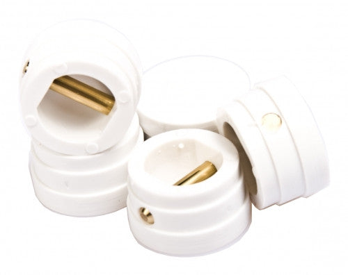 Large Leash Plugs White (each)