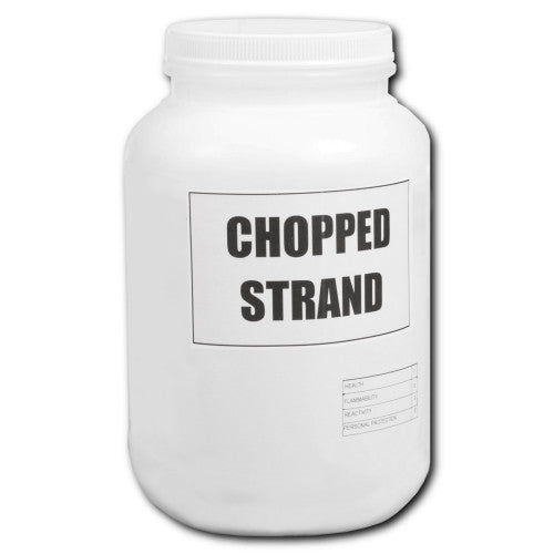 "1/4 "" Chopped Strand fiberglass Fibers (1 Gallon Jug 5 Lbs)"