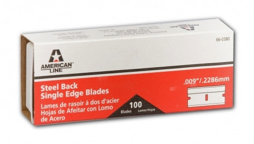"American Single Edge Razor Blades -.009""/.2286mm -100 QTY"