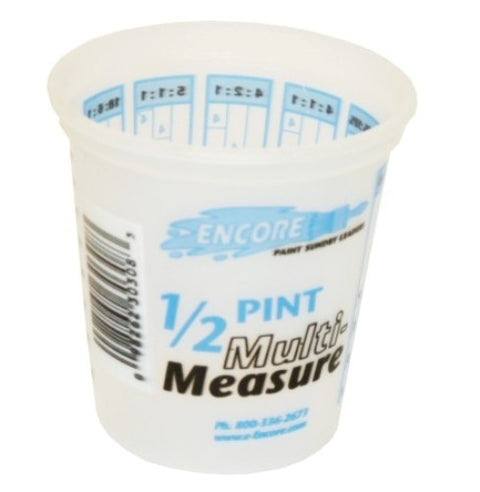 Plastic Multi-Measure Mixing Cup  8oz -Each