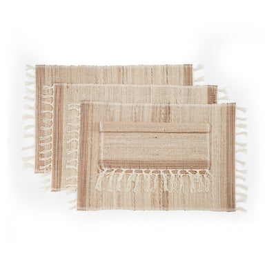 FRINGED BISCOTTI placemat (set of 4)