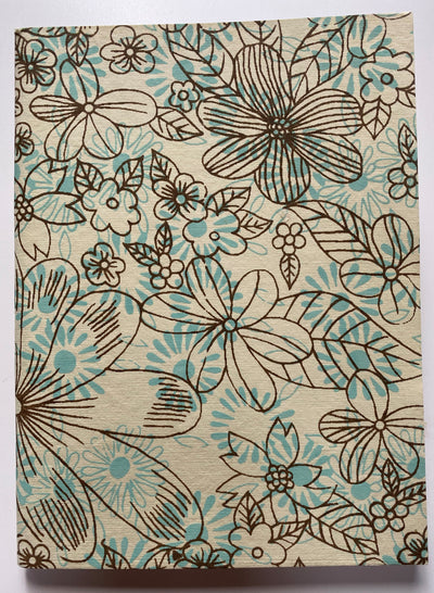 "AQUA FLOWERS Soft Cover Journal 6""x8"""