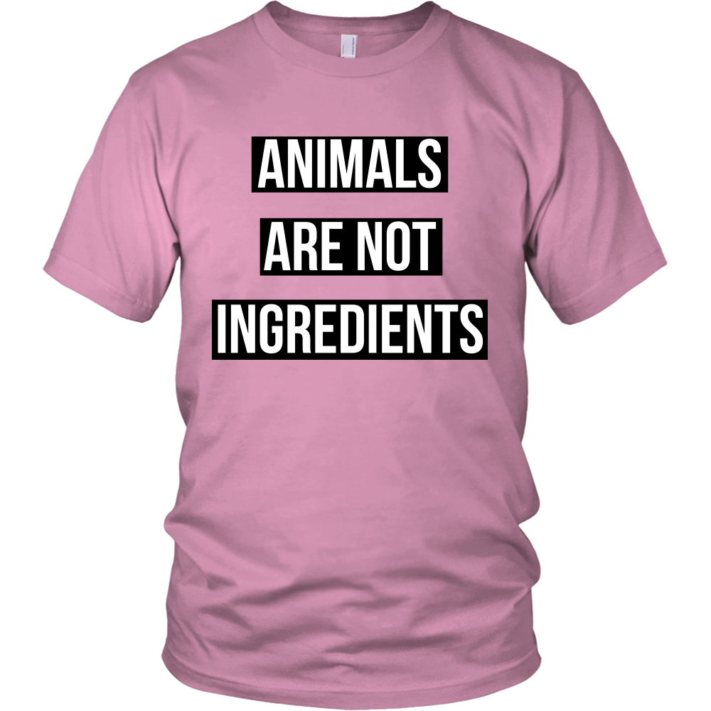Animals Are Not Ingredients T-Shirt | Vegan LifeStyle Shirts