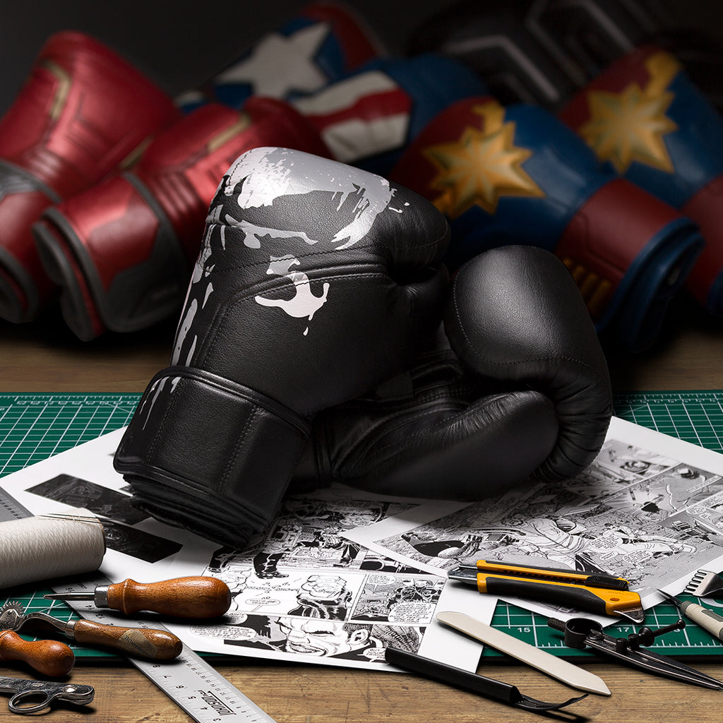 Designing The Punisher Boxing Gloves