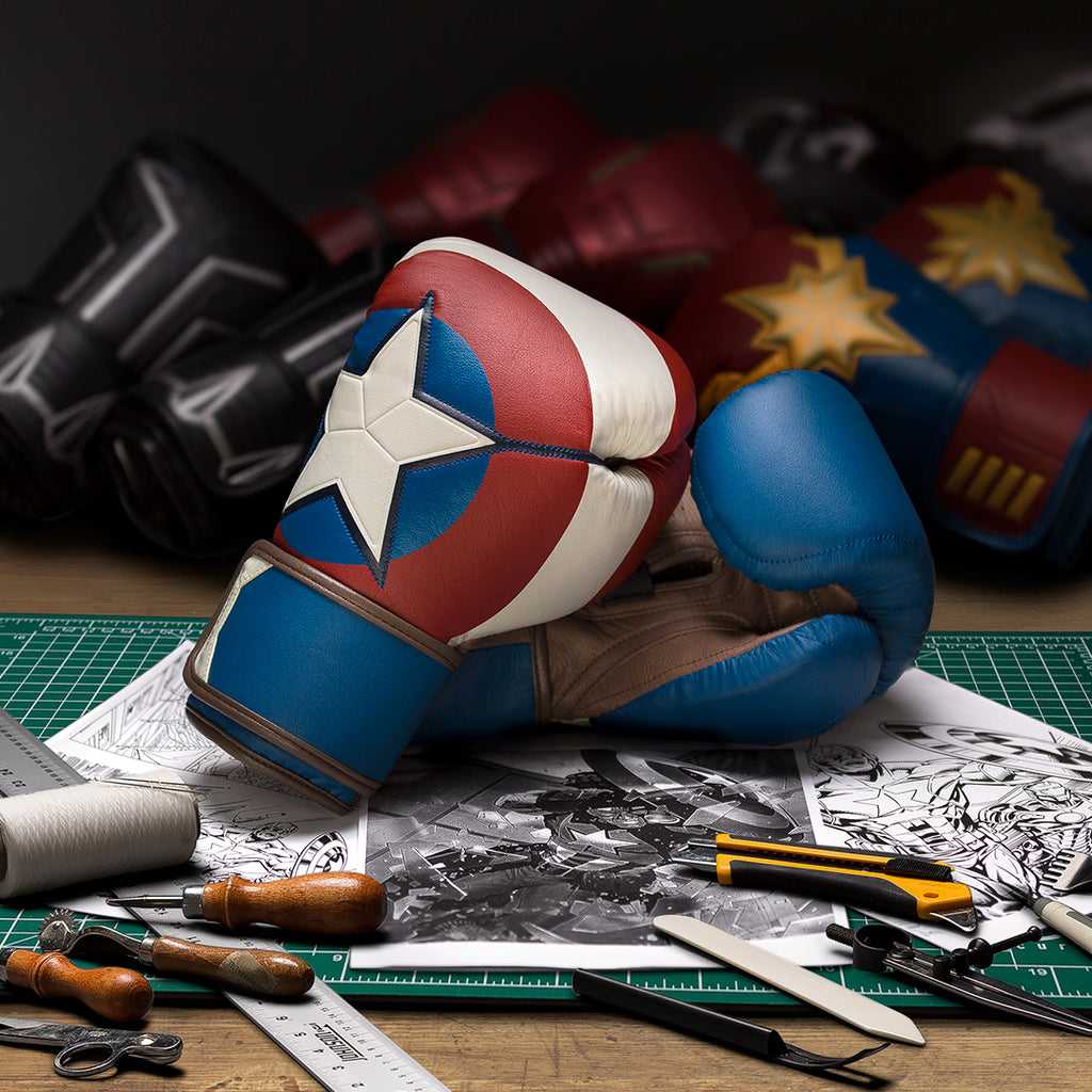 Designing Captain America Boxing Gloves
