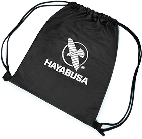 A Drawstring Bag with the Hayabusa Falcon logo printed in the back