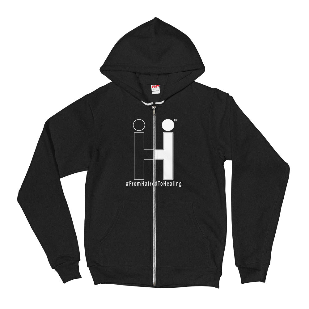 From Hatred To Healing Zip Up Hoodie sweater