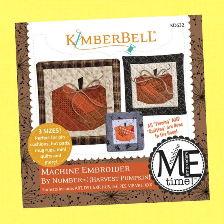 Machine Embroider by Number - Harvest Pumpkin, by Kimberbell