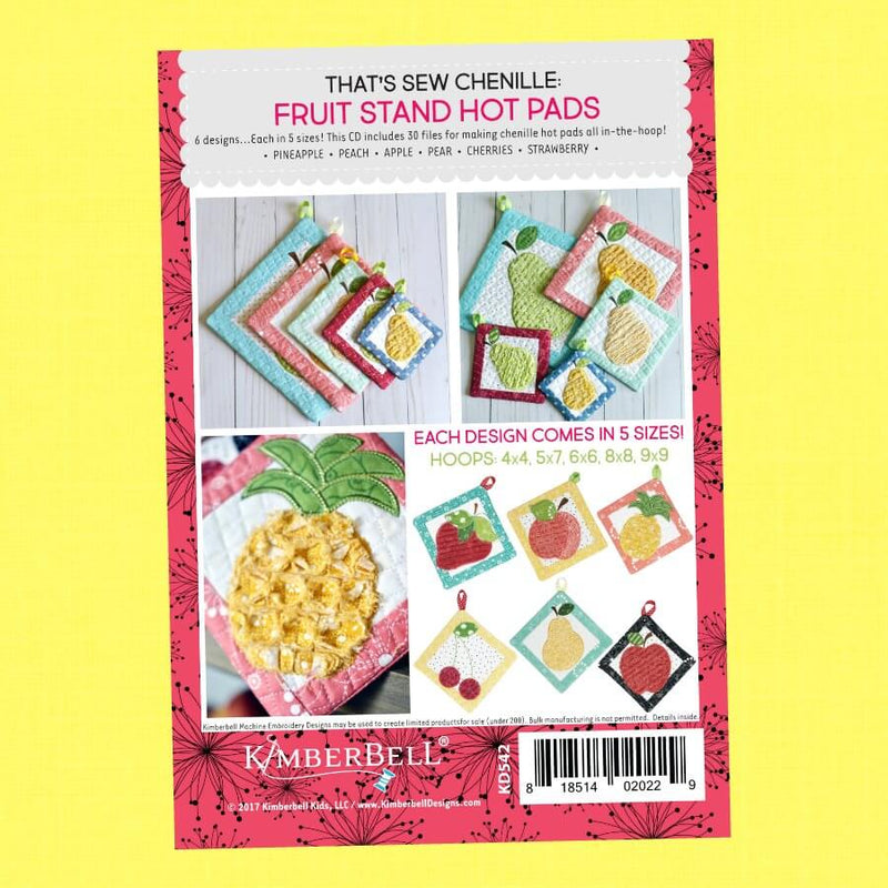 That's Sew Chenille: Fruit Stand Hot Pads by Kimberbell