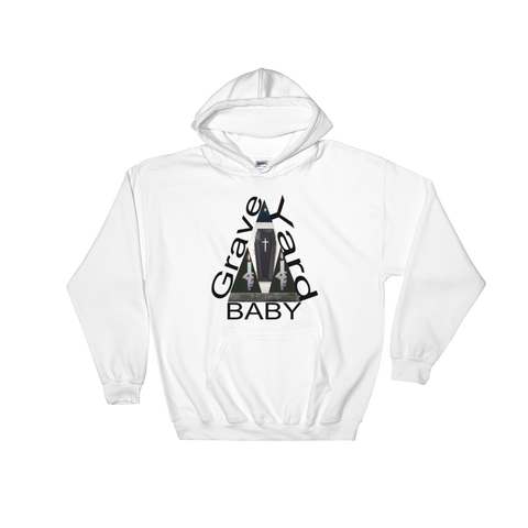 grave yard baby Hooded Sweatshirt-vagabond clothing company-vagabond clothing company