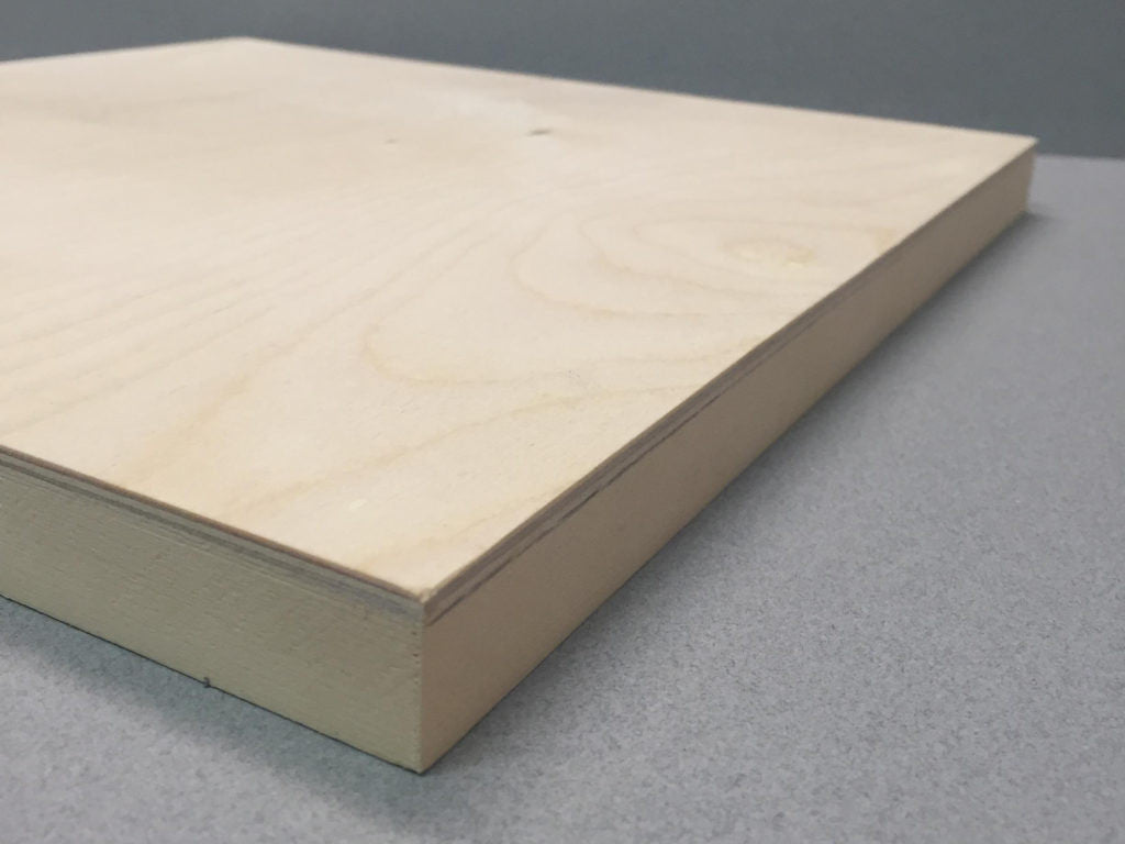 Birch Panels - Standard and Gallery Style Cradled 3mm Baltic birch