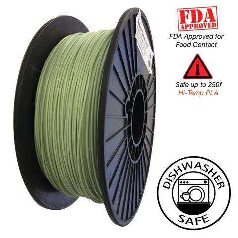HTPLA Raptor - High Performance PLA 3D Filament - HD Vivid Mint  -  1.75mm  -  1KG