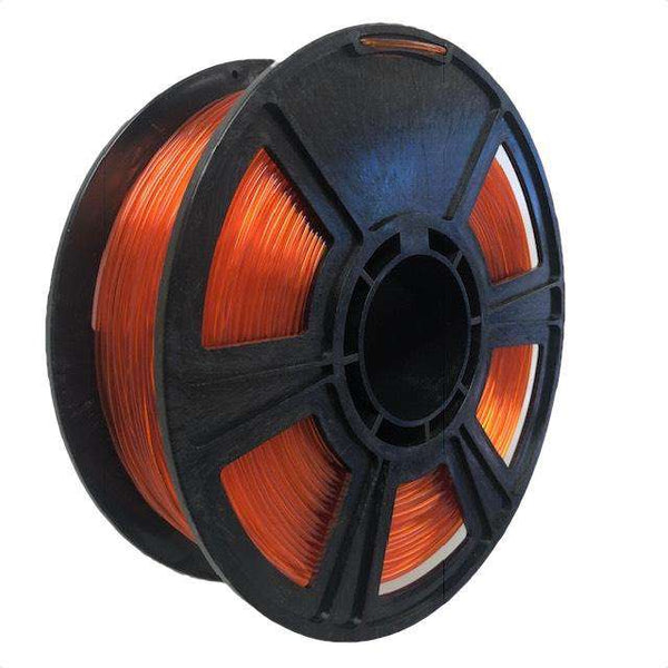 Crystal Series PLA Filament - 1.75mm - Translucent Orange - 1KG
