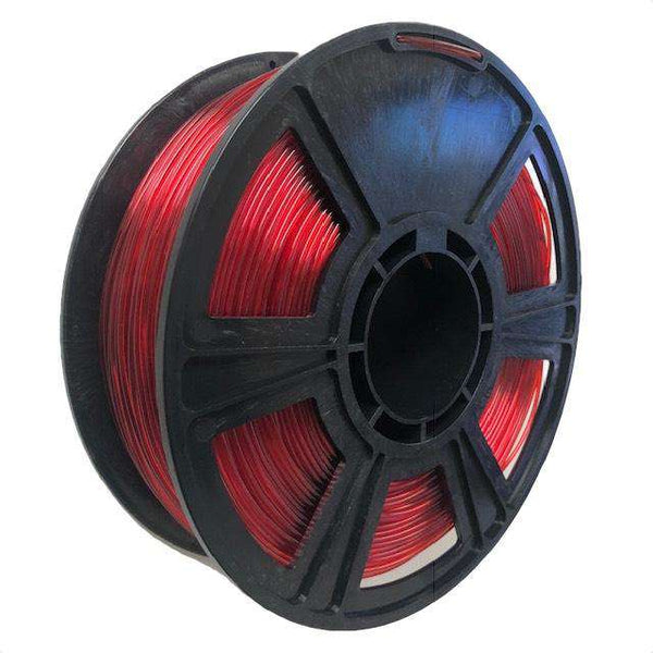 Crystal Series PLA Filament - 1.75mm - Translucent Red - 1KG