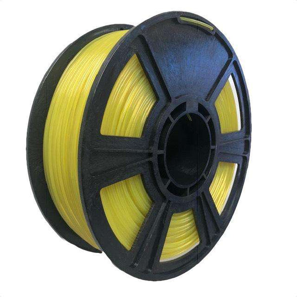 Crystal Series PLA Filament - 1.75mm - Translucent Yellow - 1KG