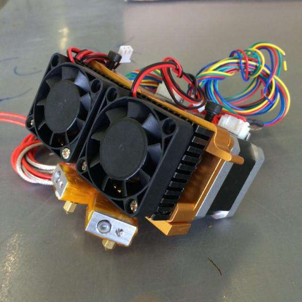 Dual-Head MK9+ Extruder Ready to Print