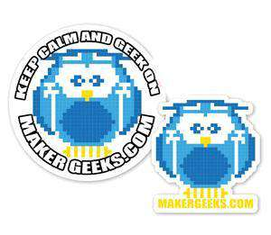 FREE Blinky the 8-Bit Owl - MakerGeeks Logo Sticker