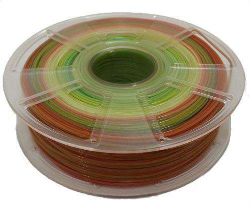 Rainbow PLA 3D Printer Filament - 3.00mm / 1kg