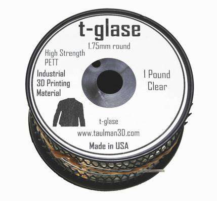 t-glase  (PETG) 3D Printer Filament - Clear - 1.75mm / 1LB