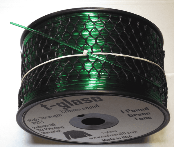 t-glase (PETG) 3D Printer Filament - GREEN - 1.75mm / 1LB