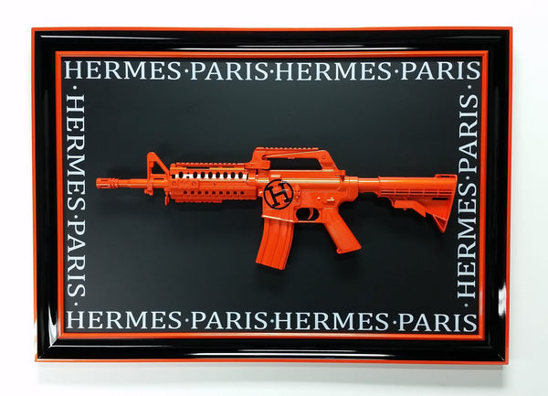 Hermes Orange Pearl Gun Art