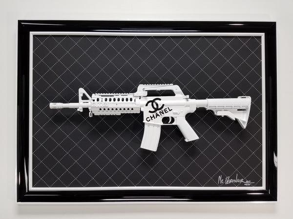 Chanel White Gun Art