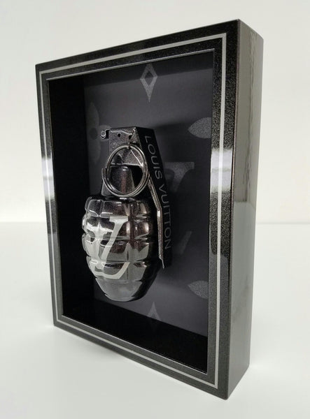 "Framed Graphite Grey LV Grenade 6"" x 8"""