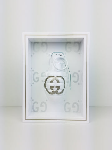 "Framed White Gucci  Grenade 6"" x 8"""