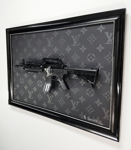 Louis Vuitton Graphite Gun Art