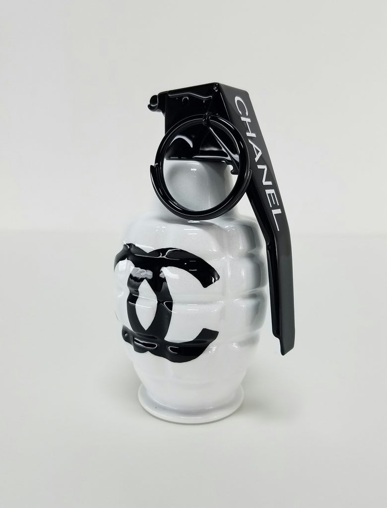 Chanel White Art Grenade