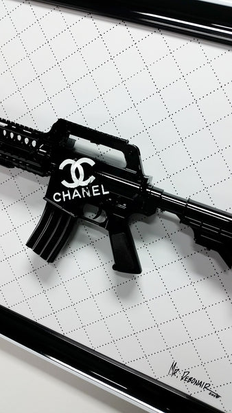 Chanel Black Gun Art